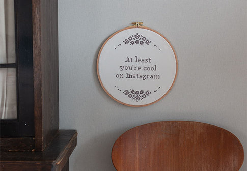 "Embroidery kit Aida ""Cool on Instagram"""
