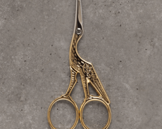 Embroidery scissors - stork