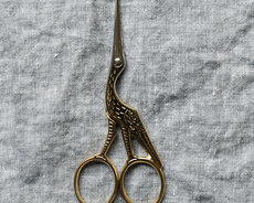 Embroidery scissors - stork - Gold