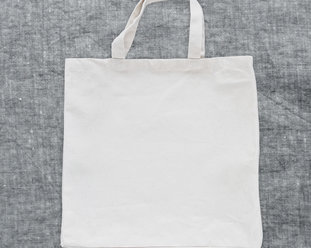 Organic strong Tote bag / Canvas bag in offwhite