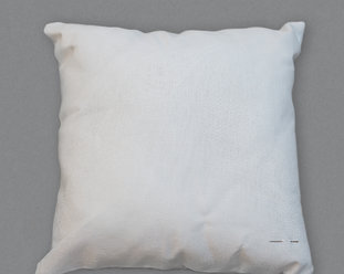 Pillow cover with aida fabric for cross stitching