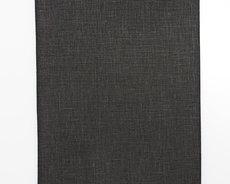 Black linen fabric