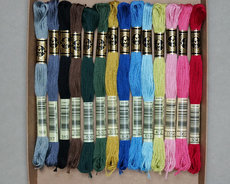 DMC Stranded Embroidery Floss 14 assorted colours in a gift box