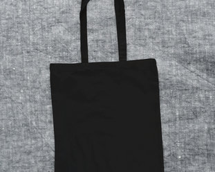 Organic lightweight Tote bag / Canvas bag in black