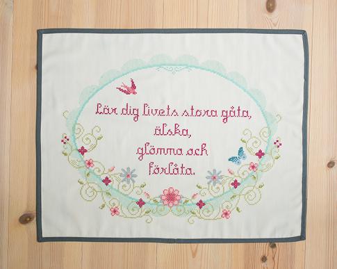 Livets gåta / Vintage spring - Cross stitch kit with aida