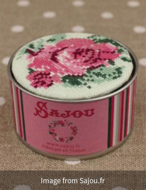 Rose box cross stitch kit from Sajou