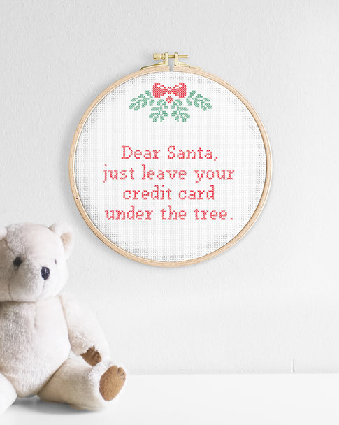 Cross stitch kit Christmas - Dear Santa