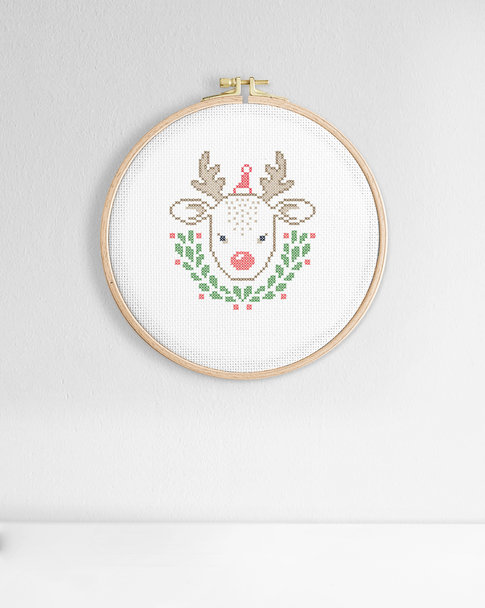 Cross stitch kit Christmas - Little reindeer