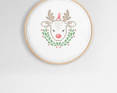 Broderikit aida - Little reindeer