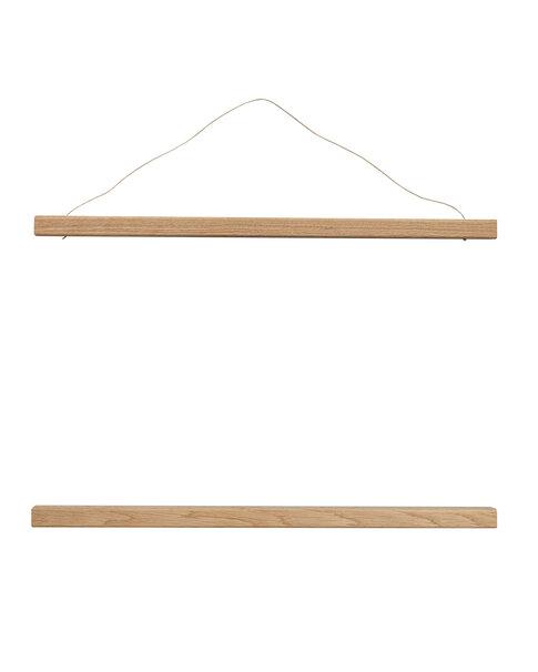 Posterhängare i trä, ek.