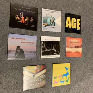 8 CD pile