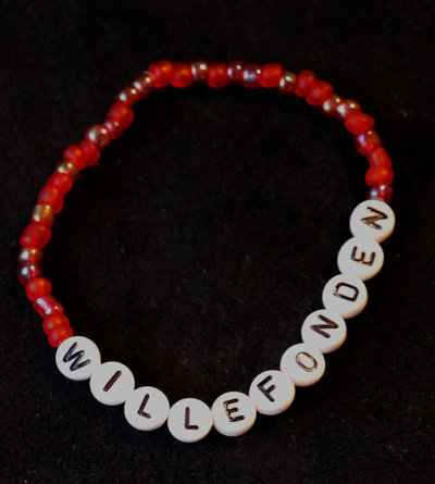 Bracelets red/white