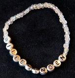 Armband enfärgad vit/silver