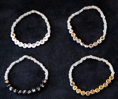 Bracelets white/silver