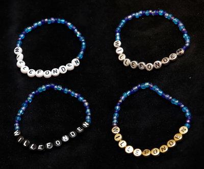 Bracelets blue/white