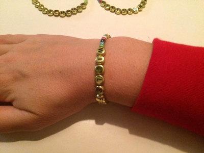 Armband enfärgad blått/vit