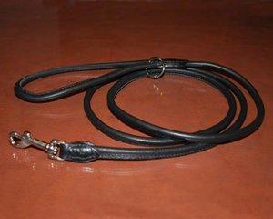 Läderkoppel, R svart 180 x Ø 6