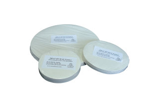 Qualitative disc filter paper for general use, medium flow rate, Ø185 mm, 100 pcs