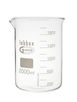 Beaker low form, Premium Line, 2000 ml,  4 pcs