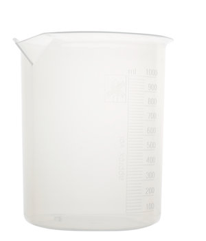 Beaker, polypropylene, with raised graduations, 25 ml, 12 pcs