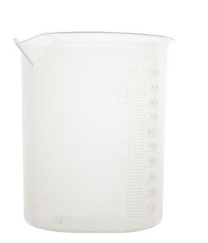 Beaker, polypropylene, with raised graduations, 1000 ml, 6 pcs