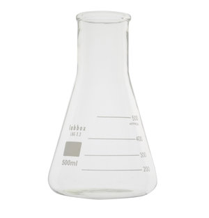 Erlenmeyer flask wide neck, 100 ml, LBG 3.3, 12 pcs