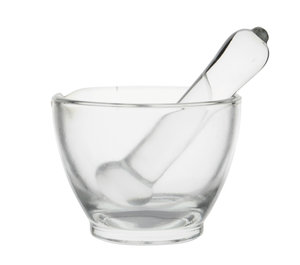 Mortar with glass pestle, 75 mm, Premium Line