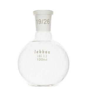 Boiling flask, flat bottom, LBG 3.3, mouth 29/32, 2000 ml, 2 pcs