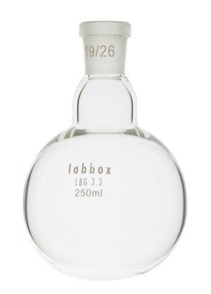 Boiling flask round bottom, LBG 3.3, mouth 29/32, 50 ml, 12 pcs