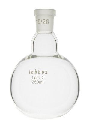 Boiling flask round bottom, LBG 3.3, mouth 19/26, 50 ml, 12 pcs