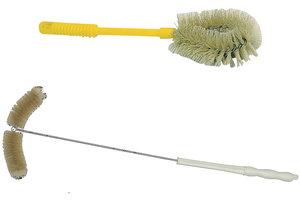 Brush for big beakers, natural bristle, lenght 380 mm