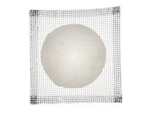 Wire gauze with ceramic centre, 125x125 mm