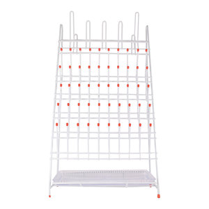 Draining rack for labware, 650x360 mm, 55 positions