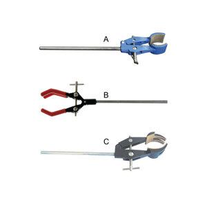 Retort clamp, two prongs, cork lied