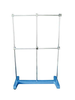"Retort stand, ""H"" shape, base 500x250 mm, rod Ø10 x 800mm"