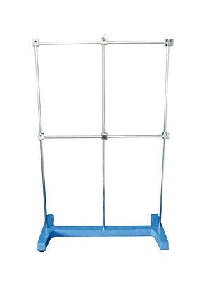 "Retort stand, ""H"" shape, base 500x250 mm, rod Ø12 x 800mm"