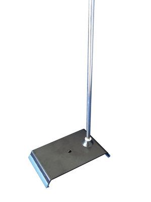 Retort stand (metal sheet) 225 x 125 mm, with rod 500 x Ø10 mm