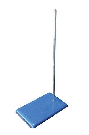 Retort stand (cast iron)  250x160mm, with chromium plated iron rod  500xØ10 mm, 1 pc