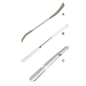 Doubled curved-end spatula, 150 mm, 5 pcs