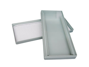 Microslide box for 25 slides, polystyrene