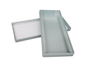 Microslide box for 100 slides, polystyrene