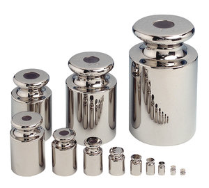 Precision weight, stainless steel, class M1, 500 g ± 25 mg