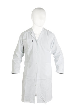 Lab-coat 65% polyester/35% cotton, man, white, size M (54 - 56)