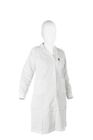 Lab-coat 65% polyester/35% cotton, woman, white, size L (50 - 52)