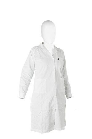 Lab-coat 65% polyester/35% cotton, woman, white, size XL (54 - 56)