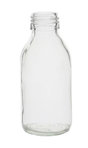 Glass bottle narrow neck, clear, PP28, 1000 ml, 20 pcs