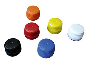 Screw cap PP28 with security seal, white, 20 pcs