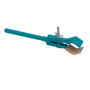 Retort clamp, two prongs, cork lied, 200 mm, Premium Line