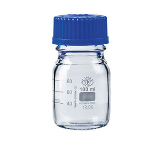 Laboratory bottle with ISO thread, graduated, LBG 3.3, 100 ml , 10 pcs
