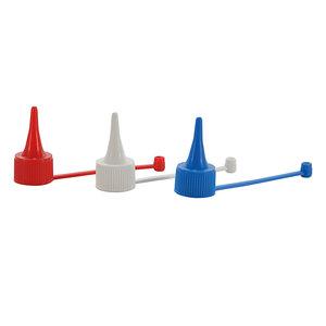 Dropper nozzle with screw cap, D17, white, 10 pcs
